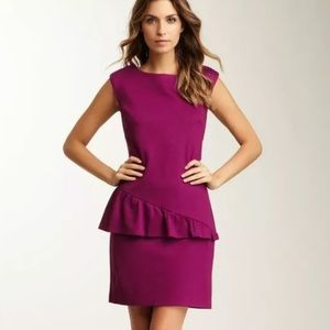 Trina Turk Bonsoir Asymmetric Ruffle Mini Dress